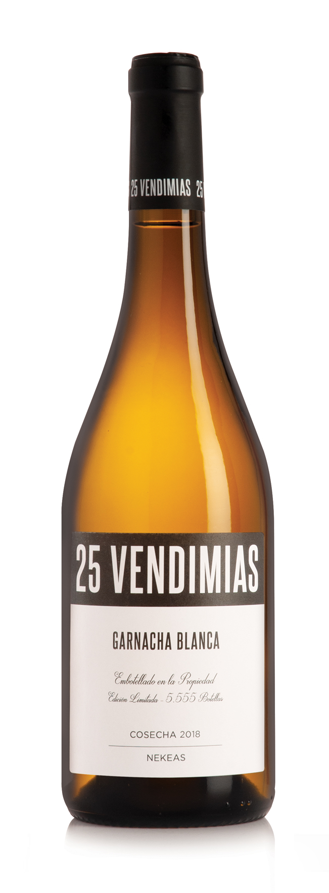 25 Vendimias Garnacha Blanca Bottle Photo