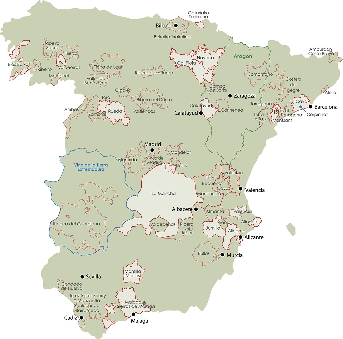 Map Of Spain Under Moorish Rule.Region Jorge Ordonez Selections
