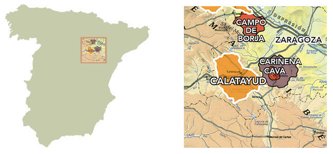 Calatayud Spain Map.Region Jorge Ordonez Selections